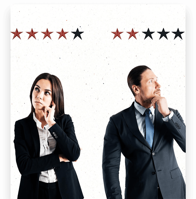 Reviews of men and women